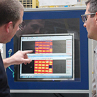 Temperature measurement at the thermoforming process of automotive exterior parts