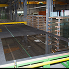 Temperature monitoring flatt glass production