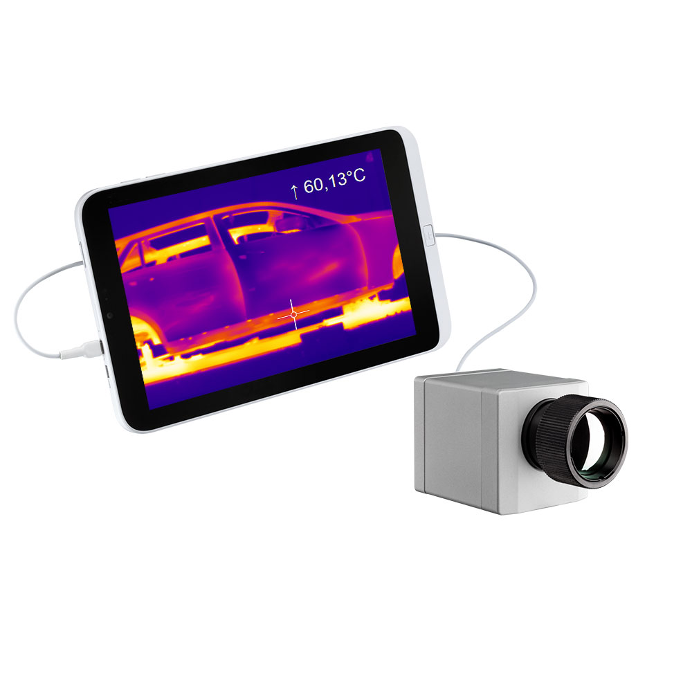 Compact optris PI IR camera with tablet PC