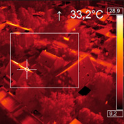 thermal image made with optris PI LightWeight